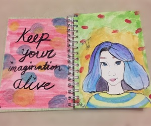 art, girl, and color image