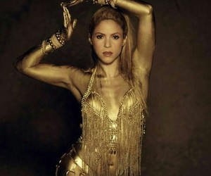 dancer, gold, and shakira image