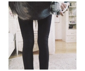anorexia, coffee, and legs image