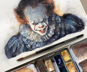 pennywise, art, and clown image