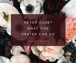 prayer and never doubt image