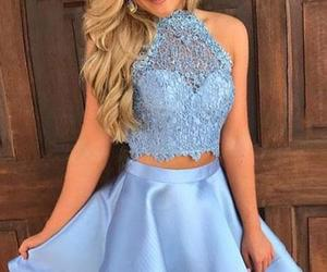 homecoming dresses blue, lace homecoming dresses, and homecoming dresses short image