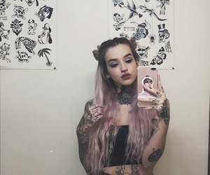 tattoo, tattooed girl, and girls with tattoos image