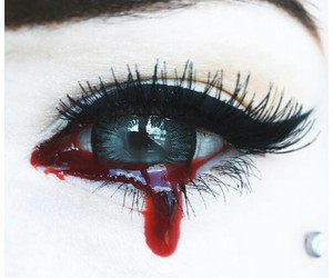 blood and eye image