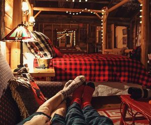 couple, winter, and cozy image
