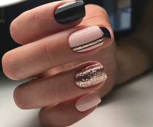 autumn, nails, and black image