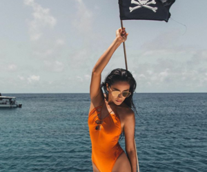 flag, shay mitchell, and orange image