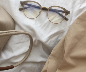 aesthetic, glasses, and beige image