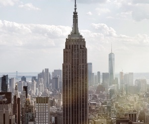 city, empire state, and goals image