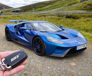 blue, ford gt, and gt image