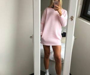 clothes, pink, and style image