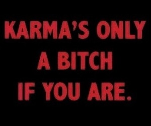 karma, quotes, and bitch image