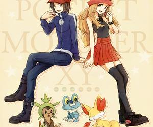 anime girl, pokemon, and anime boy image