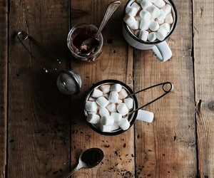 chocolate, marshmallow, and coffee image