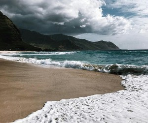 beach, nature, and sea image