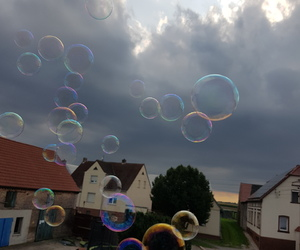beautiful, bubbles, and clouds image