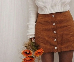 flowers, fashion, and skirt image