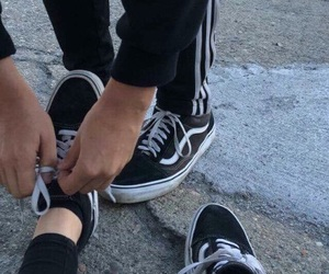 couple, vans, and boy image