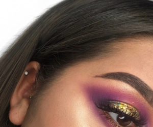 eyeshadow, glitter, and gold image