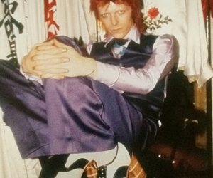 david bowie and mick rock image