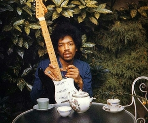 Jimi Hendrix, guitar, and rock image