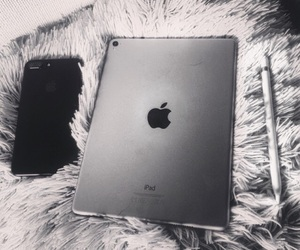 apple, iphone, and pencil image