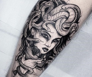 tattoo, ink, and lady image