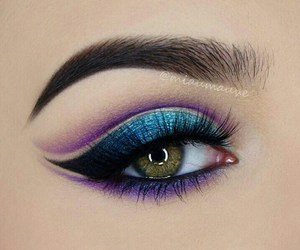 beautiful, blue, and make up image