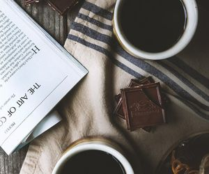 coffee, chocolate, and book image