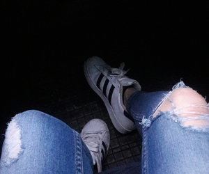 adidas, grunge, and ripped jeans image