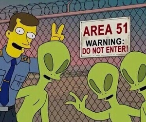 alien, area 51, and the simpsons image