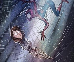 man, spider man, and spider-man image