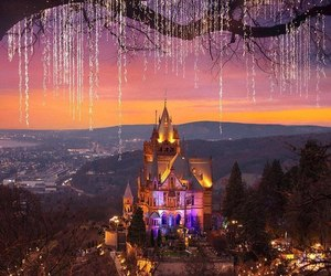 beautiful, castle, and light image