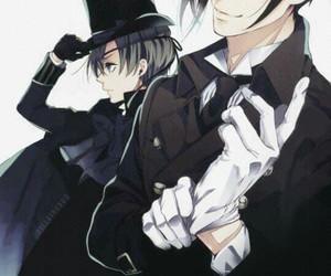 kuroshitsuji, sebastian, and ciel phantomhive image