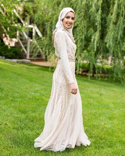 dress, maxi dress, and hijab fashion image