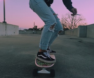 beautiful, skate board, and sk8r girl image