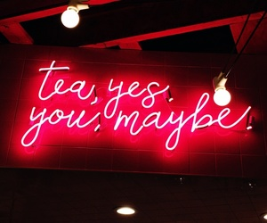 color, neon lights, and phrase image
