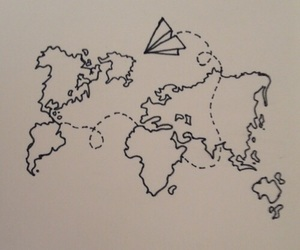 world, travel, and plane image