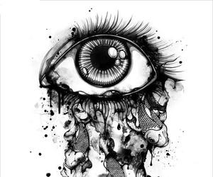 eye, fish, and art image