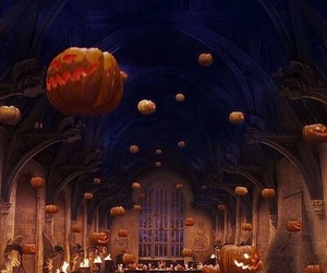 Halloween, harry potter, and hogwarts image