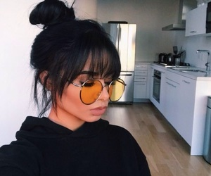 fashion, hair, and glasses image