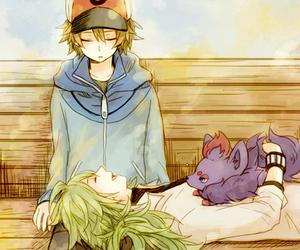 pokemon, anime boy, and zorua image