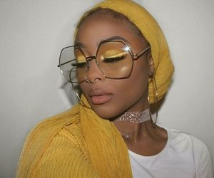 makeup, yellow, and melanin image