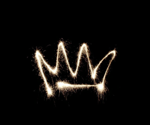 crown, wallpaper, and black image