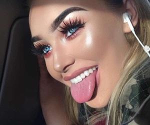 fashion, highlight, and makeup image