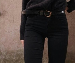 black, style, and outfit image