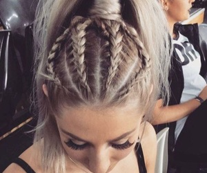 braids, style, and hair image