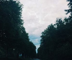 blue, road, and sky image
