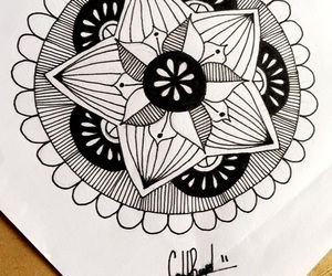 black and white, doodle, and doodles image