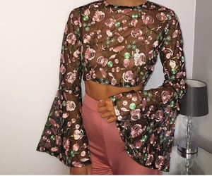 chic, fashion, and floral image